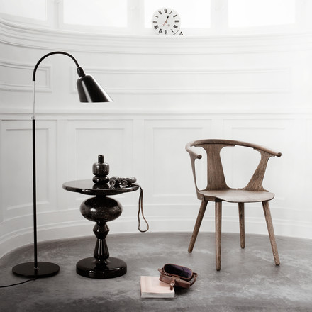 Shuffle Table MH1, Bellevue Floor Lamp and the In Between Chair SK1 by &Tradition