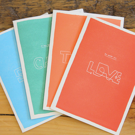 Color block wisdom greeting cards from Holstee