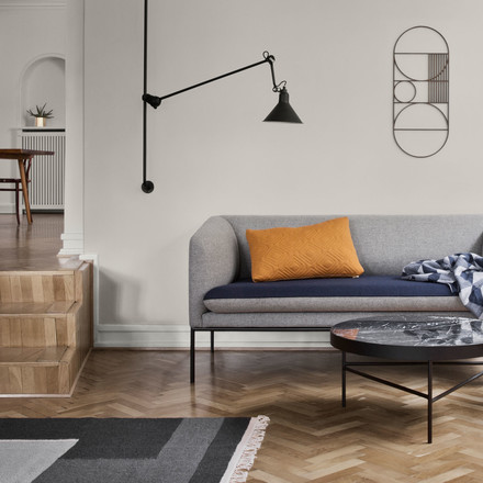 Kelim Rug Section by ferm Living with the Outline Wall Decoration