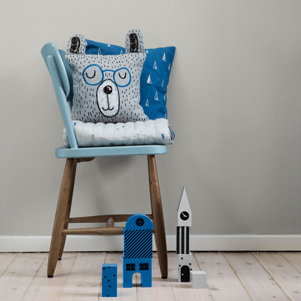 """Little Mr Teddy"" Cushion by ferm Living"
