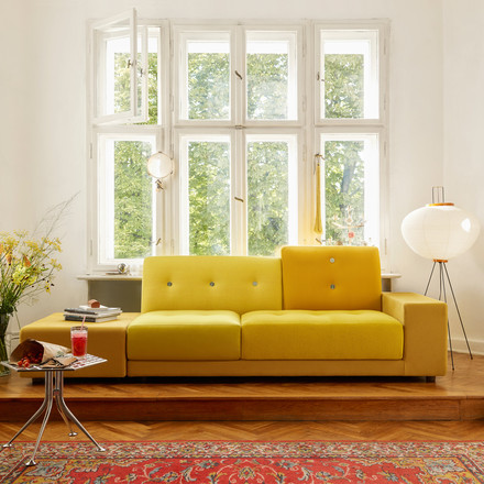 The Polder Sofa XL and the Akari 10A Floor Lamp by Vitra