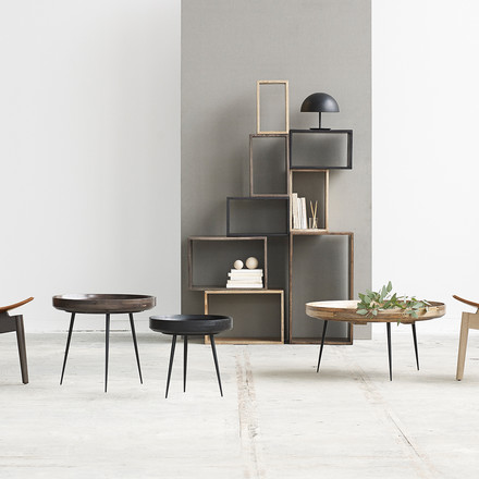 The Bowl table family and Box System by Mater
