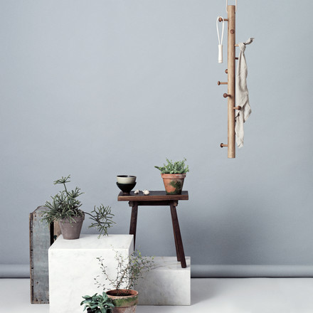 hanging coat rack made of wood with natural charm
