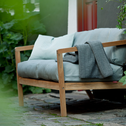 Virkelyst sofa for the garden