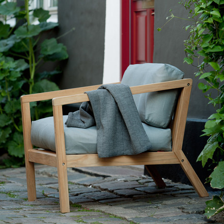 Armchair for outdoor use