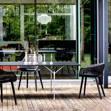 Cyborg chairs & Officina table in black