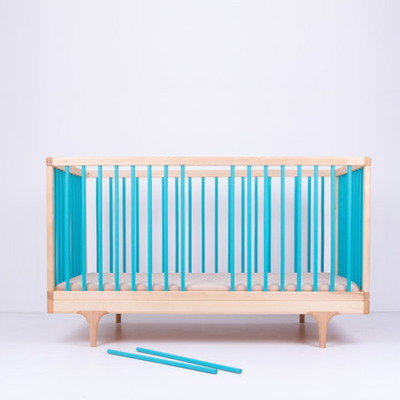 Baby bed caravan crib with slip rods