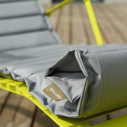 Relaxing with the Outdoor Cushion and Deck Chair by Fermob