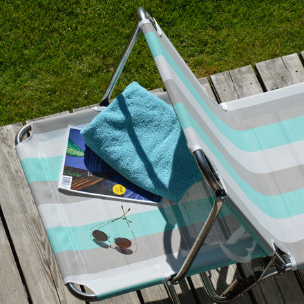 Fiam - Amigo Sun Three-legged Sunlounger with sunshade