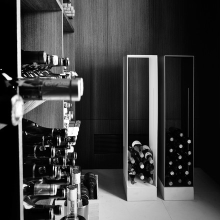 Manhattan shelf as a wine rack