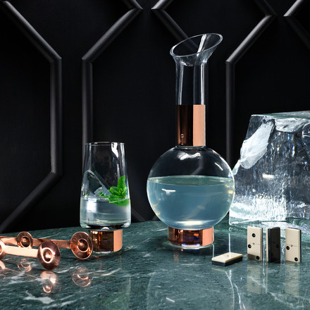 Tank High Ball Glass and Jug by Tom Dixon