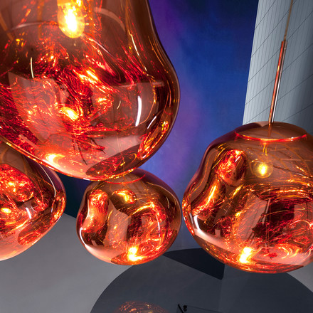 Pendant luminaires like a soap bubble