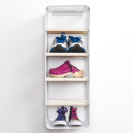 Shoe Rack with shoes by tica copenhagen in white