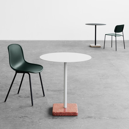 The Hay - terrazzo round table, the Neu13 Chair and the soft Chair