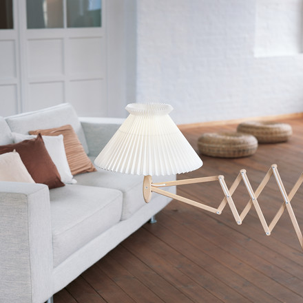Wall Lamp with Accordion Arm