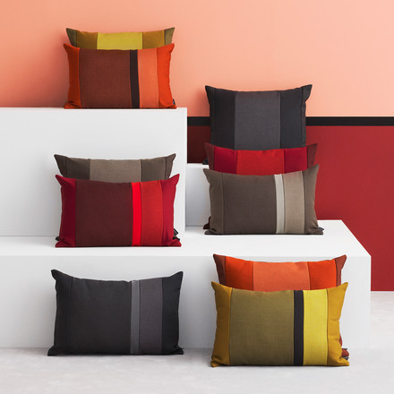 The Line Cushion by Normann Copenhagen in different warm colours