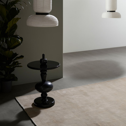 The &tradition Moor Rug, the Formakami lamp and the shuffle Table