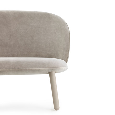 Ace Sofa Velour from Normann Copenhagen in beige