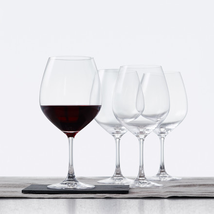 Burgundy Glass with a Large Goblet