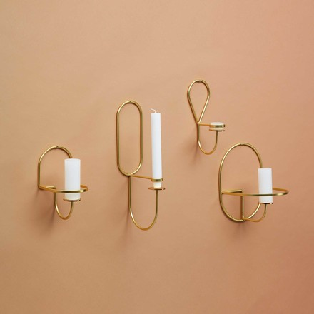 The Hay - Lup wall tea light holder in brass