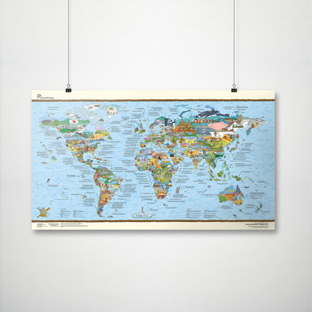 Travelmap/Bucketlist by Awesome Maps with Suspension