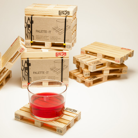 Palette-it Coasters made of Pine Wood