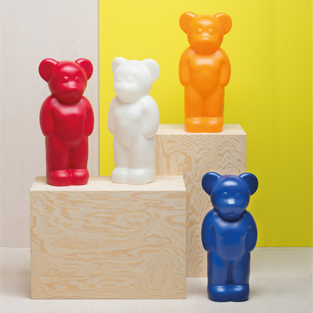 The Lumibear Lamp by Authentics in different coulours