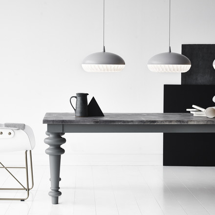 Aeon Rocket pendant lamp above the dining table