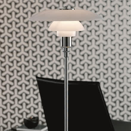 Louis Poulsen - PH 3½-2½ Floor Lamp, high lustre chrome plated