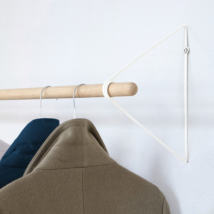 The vonbox - Spring Coat Rack in oak / white