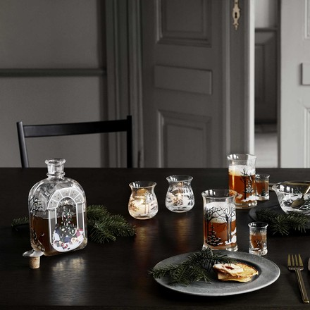 Christmas Bottle and Biscuit Jar from Holmegaard
