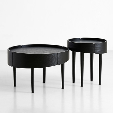 Skirt Coffee Table by Woud in Black