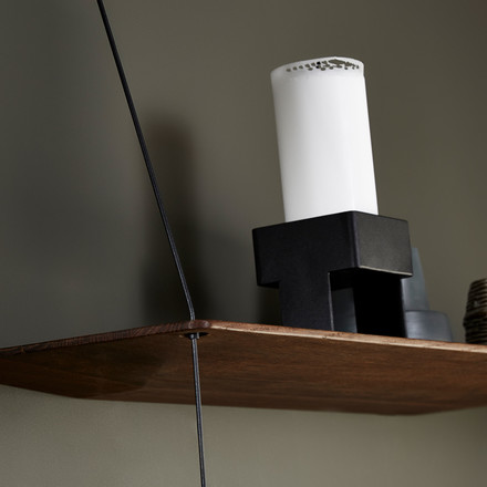 Top Candle Holder by Woud on the Stedge Shelf