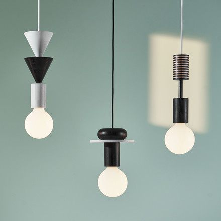 The Schneid - Junit Lamp Pendant Lamp in black and white