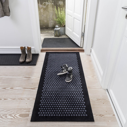 The tica copenhagen - Dot Doormat in black / grey, 67 x 150 cm