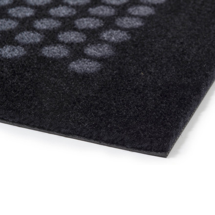 The tica copenhagen - Dot Doormat in black / grey