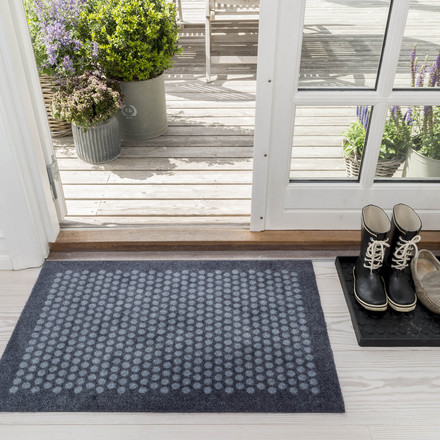 The tica copenhagen - Dot Doormat in grey, 60 x 90 cm