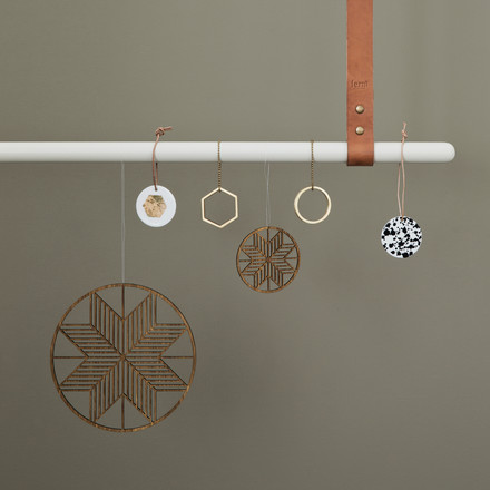 Wooden Crystal and Brass Ornaments