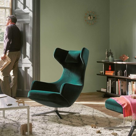Ball Clock and Grand Repos Armchair + Ottoman
