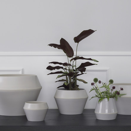 Rimme Vase and Flower Pot from by Lassen