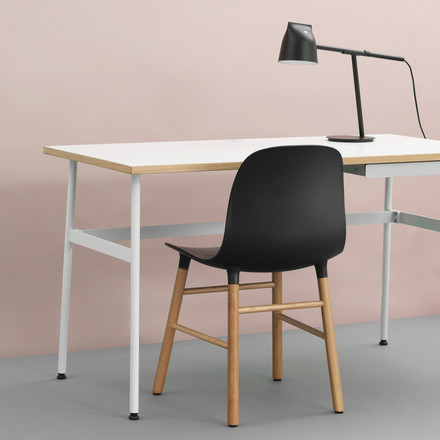 Journal Desk, Momento Table Lamp and Form Chair