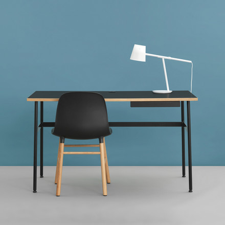 Journal Desk, Form Chair and Momento Table Lamp