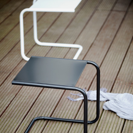 Club Side Table by Fiam in White and Black