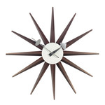 Vitra - Sunburst Clock, walnut
