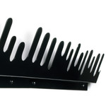 Design House Stockholm - Wave Hanger Coat Rack, black, set of 2