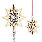 Georg Jensen - Christmas tree top star, gilded