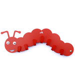 Haseform Animal Wardrobe Caterpillar red