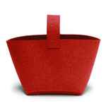 Hey Sign - Firewood basket with handle, red