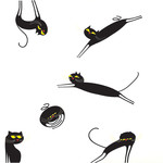 Domestic - Catenkit Wall Sticker, black