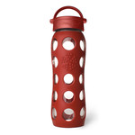 Lifefactory - Glass Bottle 0.6 Litres, red